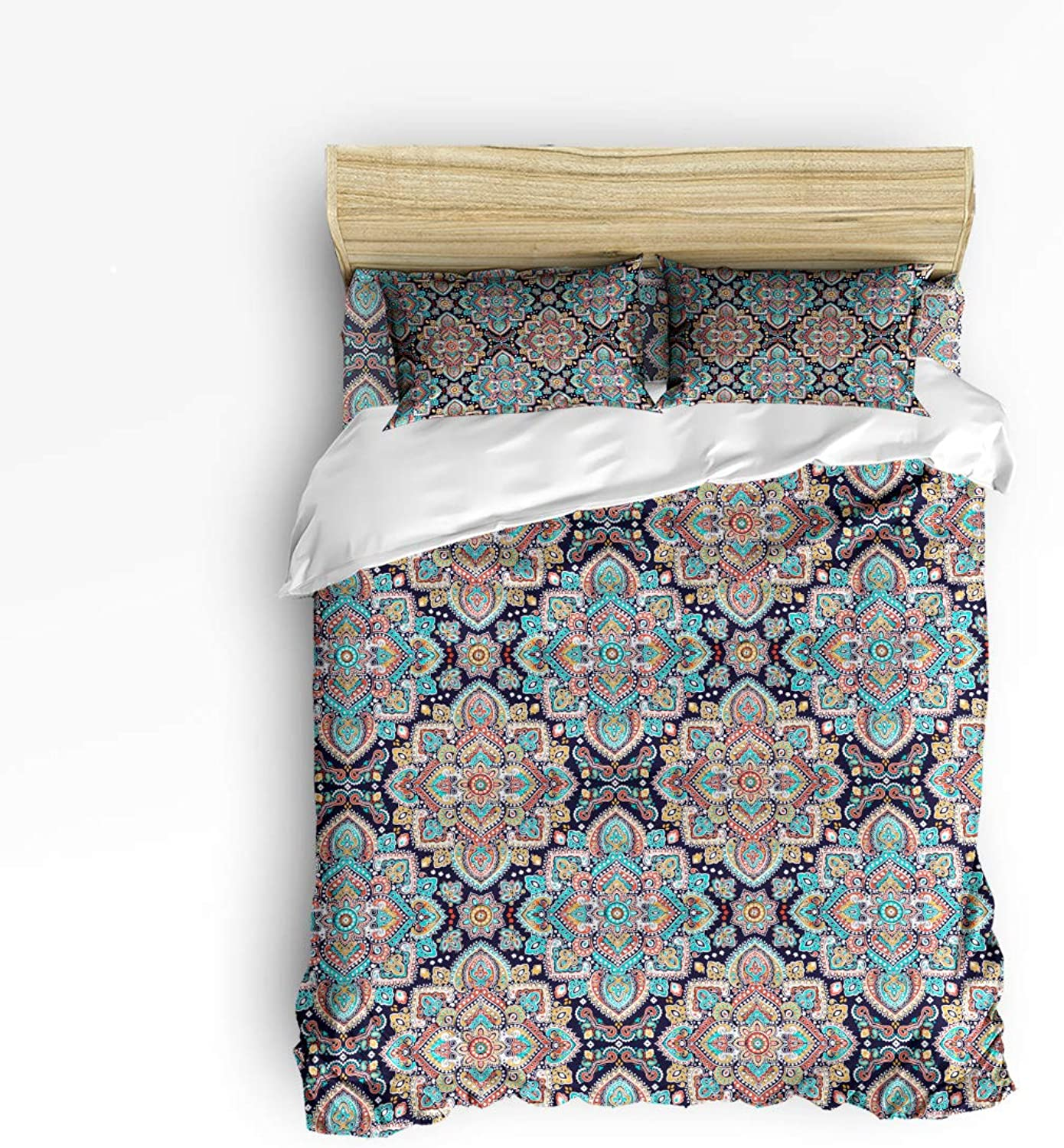 USOPHIA Twin Size, 4 Pieces Bed Sheets Set, Set, Set