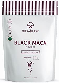 The Organique Co. Black Maca Root Powder - 16 Ounce - Certified Organic, Raw, Non-GMO Supplement - Energy, Hormone Balance - Sustainably Sourced from Peru