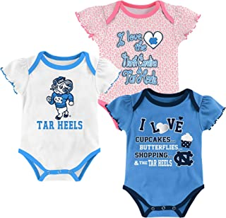 Outerstuff North Carolina Tar Heels 3 Points Baby//Infant 3 Piece Creeper Set