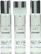 Chanel Allure Homme Sport Edt Vapo Refills 3 X 20 Ml 1 Unidad 60 ml