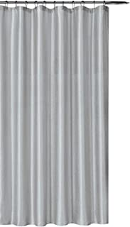 silver grey shower curtain