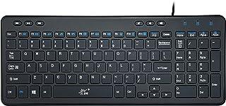 SR Keyboard Wired Thin Light 105 Keys USB Multimedia Full Size for Pc Computer Laptop