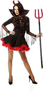 Erwachsene Mistgabel Halloweenkost/üm f/ür Kinder scharz-rot Relaxdays 3er Set Teufelsgabel Dreizack 113 cm zusammensteckbar