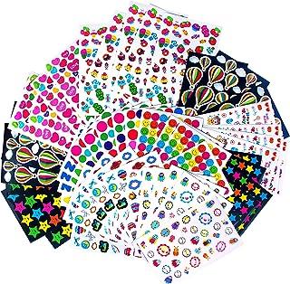 MOKIU 80 Feuilles Gommettes Enfant Autocollants Stickers Colorés pour Scrapbooking, Loisirs Creatifs, Materiel Activites M...