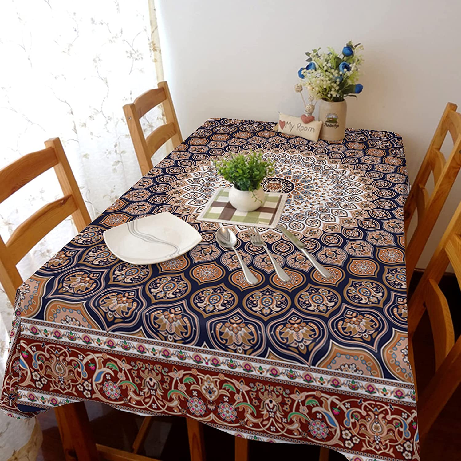 Flouky It is very popular Durable Dust-Proof Anti Wrinkle Cover Linen Table Cotton Max 79% OFF