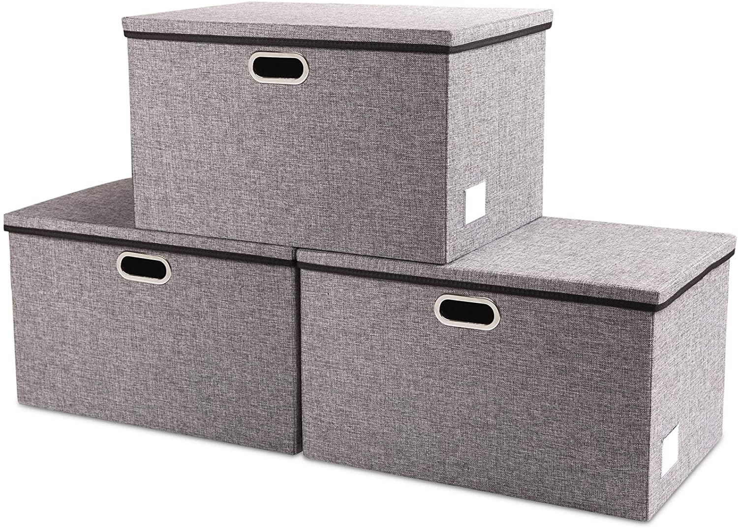 Prandom Extra Large Collapsible latest Max 73% OFF Storage Bins 3-Pack with Lids
