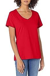+6                    Hanes       Nano Premium Women's Cotton Tee V-Neck Shirt           4.2 out of 5 stars     5,333        $9.13$9.13        FREE Shipping