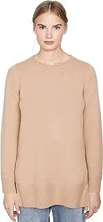 Women's Crew Neck Cashmere Tunic Sweater