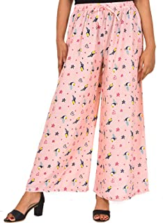 COTTON BREEZE Women's Rayon Regular Fit Palazzo Pant
