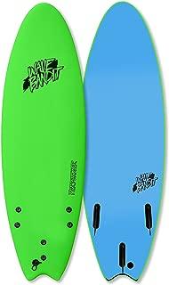 Wave Bandit Performer Tri Surfboard, Neon Green, 6'0