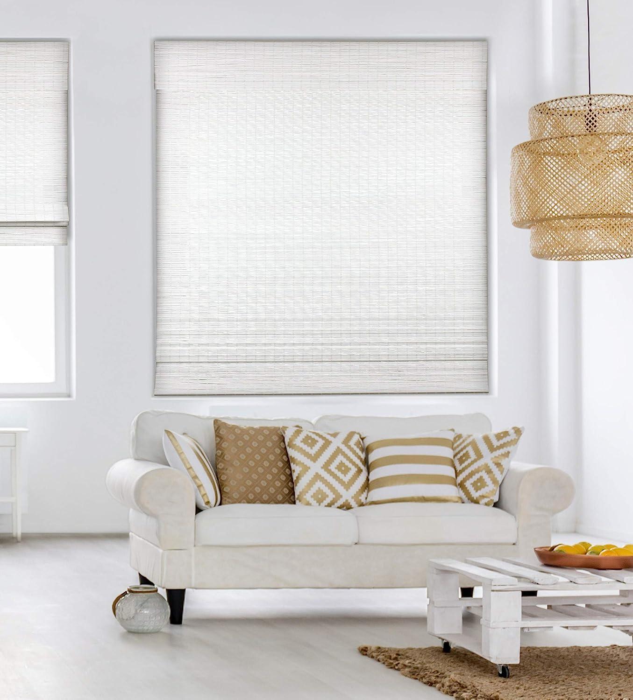 Calyx Interiors Ranking TOP13 Cordless Seaside White Roman Bamboo Blind Popular Shades