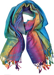 rainbow scarf pattern