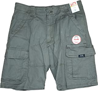 bf819c0ec1 Wrangler Olive Drab Relaxed Fit at Knee Flex Cargo Shorts
