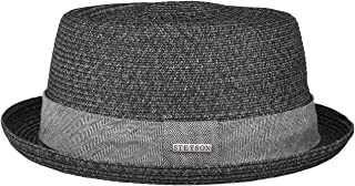 Stetson straw hat Pork Pie Robstown Toyo sun hat women's / men's beach hat made of Toyo straw with sun protection 40 ° Fedora spring/summer sun hat