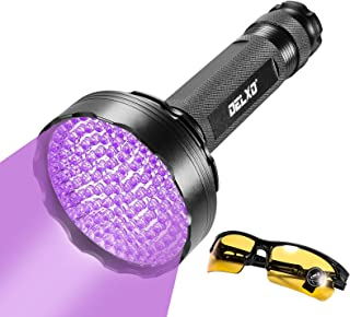 Sponsored Ad - Delxo Black Light Flashlite UV Flashlight-128 LEDs 395nm Inspection Flash light Torch Pet Dog Cat Urine Det...