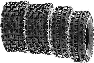 SunF All Terrain Race Replacement ATV UTV 6 Ply Tires 21x7-10 & 20x10-9 Tubeless A027, [Set of 4]