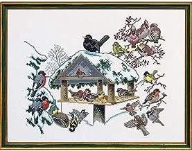 Eva Rosenstand Winter Birdfeeder Counted Cross-Stitch Kit