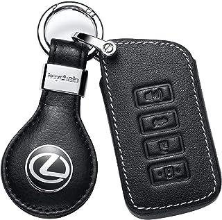 Car Key fob Cover Key case for Lexus Genuine Leather Protector Keychain ES GS IS LX RX RC NX RC-F Smart Keyless Fob Remote...