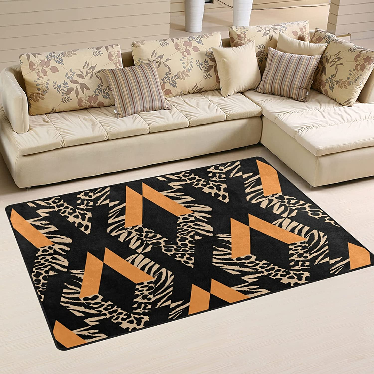 New Orleans Mall Grunge Ink Pattern Large Soft Large-scale sale Area Mat Rugs Nursery Rug Playmat