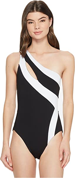 Sexy Solids One Shoulder One-Piece