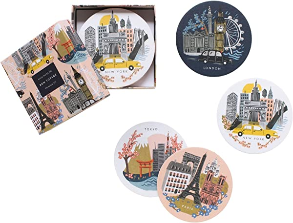 Rifle Paper Co Cities Coaster Set