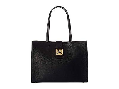 Furla Diva Large East/West Tote (Onyx) Tote Handbags