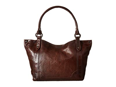 Frye Melissa Shoulder (Dark Brown Antique Pull Up) Shoulder Handbags