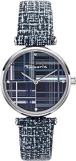 Tamaris Orologio da donna serie Elea con cinturino in pelle in stile vintage, diametro 32 mm e altezza 7,8 mm in diverse c...