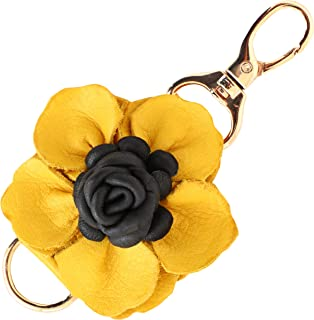 Genuine Leather Handmade Charms | PomPom Keychain | for Tassel Bags Purse Backpack
