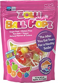 Zollipops The Clean Teeth Pops, Anti Cavity Lollipops, Delicious Ball Popz, 25 Count