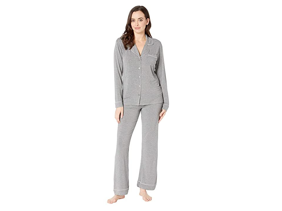 UGG Lenon Long Sleeve Sleep Set (Grey Heather) Women