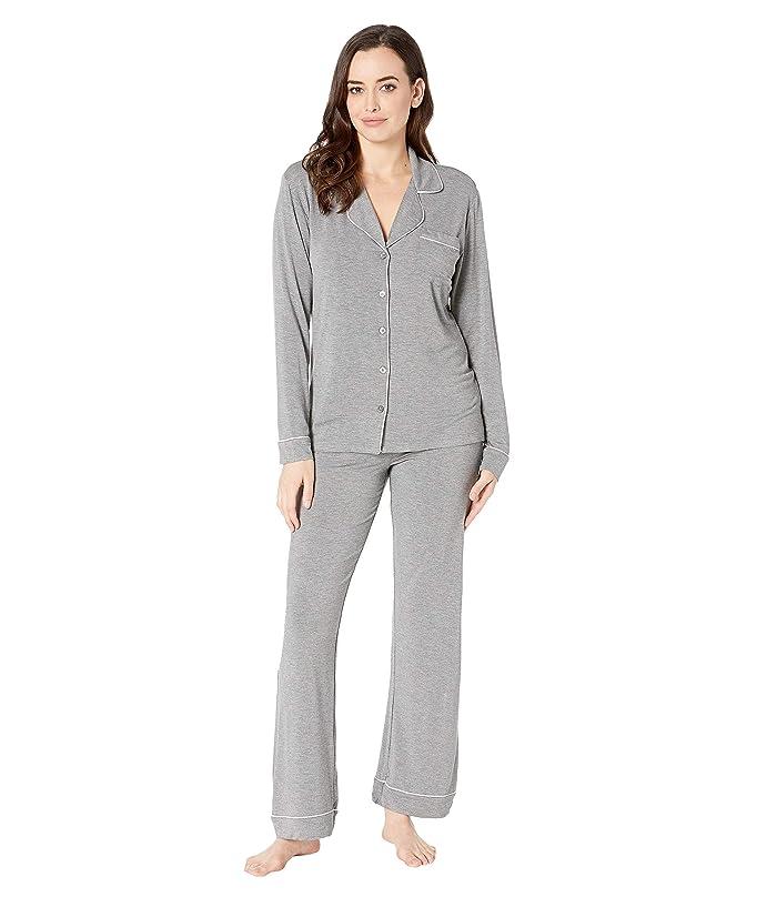 UGG Lenon Long Sleeve Sleep Set (Grey Heather) Women
