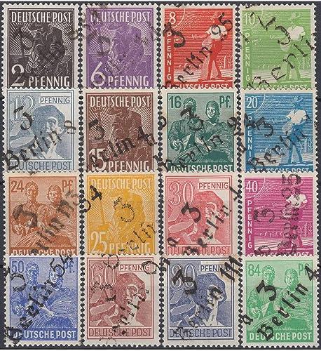 Goldhahn SBZ Nr. 166-181 ohne Nr. 179 postfrisch ,geprüft+signiert Bezirk 3 Berlin Briefmarken für Sammler
