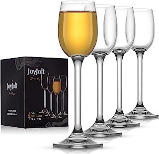 JoyJolt Saga Crystal Liquor Glasses - Premium Coupe Cocktail Glasses Made in Europe - 1.5 oz / 50 ml Absinthe Glass - Set ...