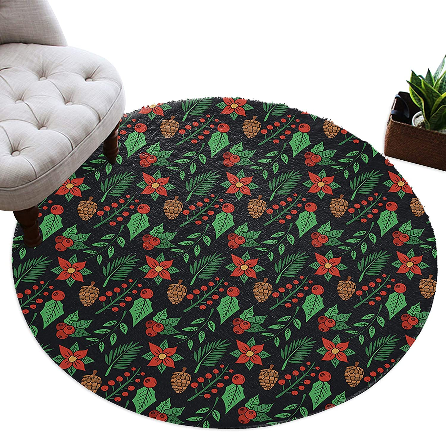 Zadaling Plush Round Area Rug Max 49% OFF Shaggy Floor Chris Decor Home Product Mat