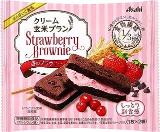 アサヒグループ食品 クリーム玄米ブラン苺のブラウニ- 70g×6個