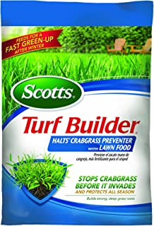 Scotts 31115 Turf Builder with Halts Crabgrass Preventer, 30-0-4, 15000 Square Feet Bag