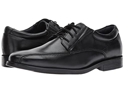 Dockers Endow 2.0 Bike Toe Oxford (Black Polished Full Grain) Men