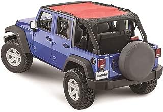 MasterTop 14221402 Freedom Mesh Black JKU 4 Door Bimini Plus Jeep Brief Tops