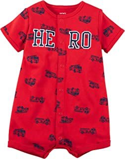 Carter's Baby Boys' Fire Hero Snap up Cotton Romper