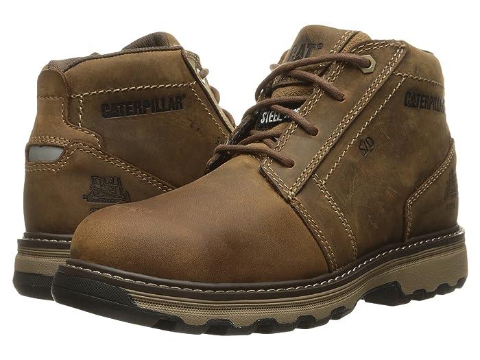 Caterpillar  Parker ESD Steel Toe (Dark Beige) Mens Work Lace-up Boots