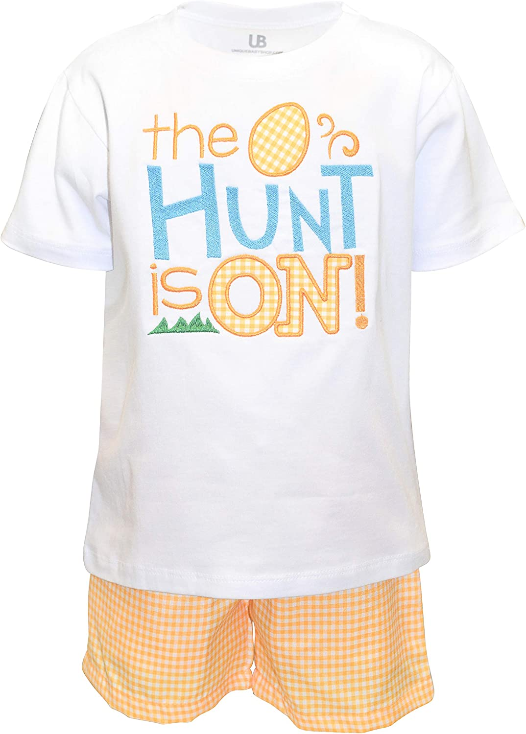 Unique Baby Boys 2 Piece Easter Egg Hunt is On Shorts Set Outfit