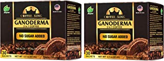 LONGREEN Ganoderma Reishi Coffee 2 In 1 Instant Coffee Delicious, Nutritious And Flavorful With 100% Certified Organic Reishi Mushroom Extract, Pack of 2, 60 sachets
