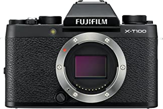 Fujifilm X-T100 Mirrorless Digital Camera - Black (Renewed)