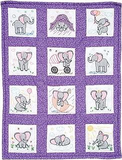 Jack Dempsey Needle Art 300924 Elephants Hand Embroidery, White