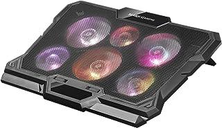 Mars Gaming MNBC4, Base Refrigerador Portátil 17.3''', 6 Ventiladores RGB, USB, Negro
