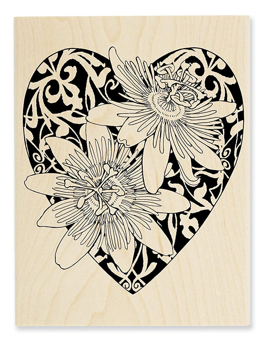 STAMPENDOUS Wood Stamp Passion Heart