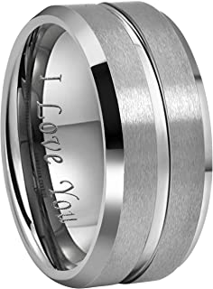 6.5 Titanium Size Jay Seiler Titanium Black Rubber 8mm Brushed Band