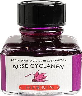 J. Herbin Fountain Pen Ink - 30 ml Bottled - Rose Cyclamen