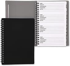 Contraseña Diario - Pack de 2 Contraseñas de Internet Logbook para Uso en Hogar y Oficina, Contraseño, Gris y Negro, 5.8 x 7.3 x 0.4in